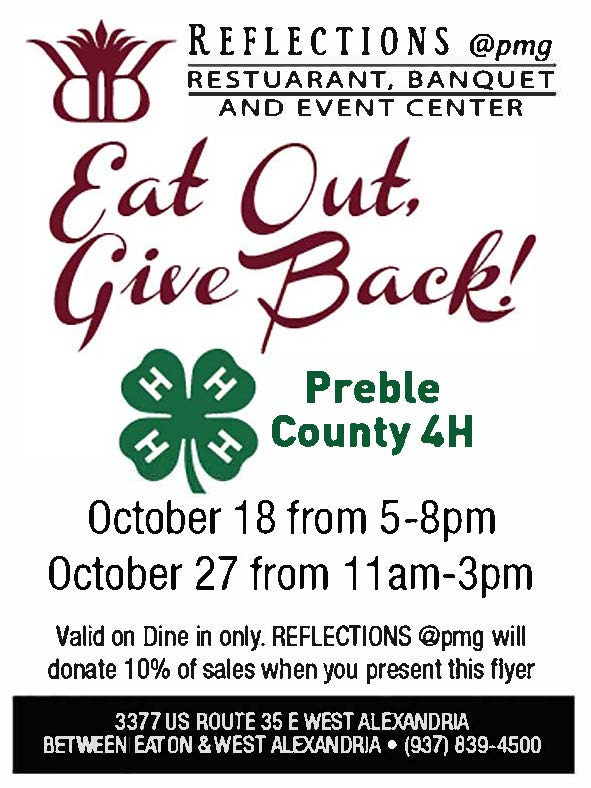 Support the Preble County 4-H Program